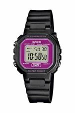 Casio Damenuhr Collection Digital Datum Chronograph Kunststoff LA-20WH-4AEF