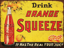 Orange Squeeze Soda pop High Quality Metal Magnet 3 x 4 inches 9400