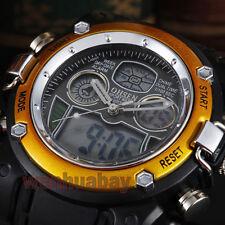 OHSEN Hot Sale Military Sport Digital Dual Time Alarm Men Cool Quartz WristWatch