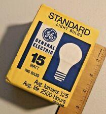 5X Vintage 1990s GE standard light bulbs 15W Two Bulbs NOS lot of 10  --  1179