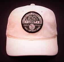 POLO SPORT Ralph Lauren CORDUROY Leather Strapback Hat Made In TAIWAN SPORTSMAN
