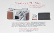 CANON POWERSHOT G9X   MARK II  20 MPX DIGITALKAMERA   PHOTOKIT NEU