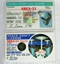 Rare AREA-51 Space Craft 3D hologram & Grand Canyon U.F.O. ALIEN License Permit