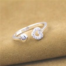925 Solid Sterling Silver Plated Women/Men New Fashion Ring Gift Size Open Hj192