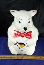 Vintage CUTE McCoy Bear w/ Red Bow Tie Cookie Jar !!