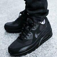 Nike Air Max 90 Essential Black Herren Herrenschuhe Turnschuhe  Neu 537384 090