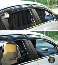 Universal 70x40cm Black Mesh VIP Car Window Sunshade Curtain Anti-UV Sun Visors