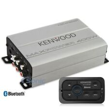 KENWOOD 400W Compact Bluetooth 4-Channel Class D Marine/ATV Amp | KAC-M1824BT