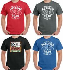 Esto es lo que parece un piloto para Hombre Divertido Camiseta vuelo tripulación de avión