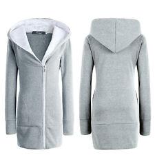 Womens Hoodies Coat Jacket Tracksuit Sweatshirts Hoody Pullover Jumper Tops 6-20