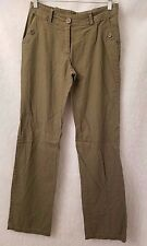 Rainbow Womens 100% Linen Green Casual Pants Size M