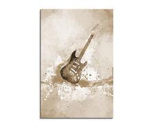 90x60cm PAUL SINUS Splash Art Gemälde Kunstbild E-Gitarre