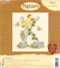 Popcorn Alphabet Counted Cross Stitch Kit PA43 lettre X