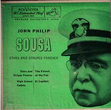 "JOHN PHILIP SOUSA! - ""STARS AND STRIPES FOREVER"" RCA VICTOR EPAT-402 EXT 45 VG+!"