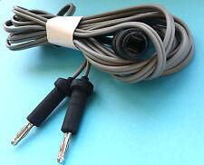 Reutilizable Bipolar Europea Cables 3 Mtr Largo,4 mm Pin Veterinario, Cirugía CE.