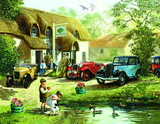 AN OLD ENGLISH PUB   1000+ Pc Puzzle  History Cars Dog Lake Scenic     SunsOut