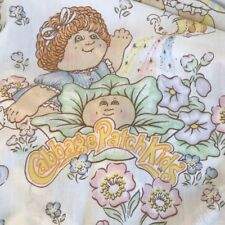 Vintage CABBAGE PATCH KIDS 1983 Twin Bed Flat Sheet Fabric Sewing Crafts