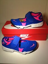 Bnib! Sz4.5 Authentic Nike Rift Blue/ Pink Textile Ladies/ Girls Trainers Eu37.5