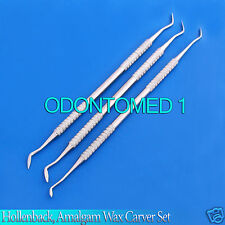 Amalgam Wax Carver Hollenback Dental Filling instrument Double Ended Set Of 3