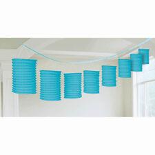 12ft Caribbean Blue Party Paper Birthday Lantern Garland Decoration