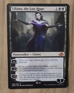 Liliana, the Last Hope - Eldritch Moon - Magic the Gathering - NM/M W/Top Loader