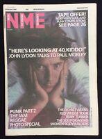 NME 8 February 1986 John Lydon Cover The Jam Go-Betweens Soup Dragons Reggae