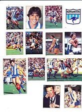 1984 Scanlens North Melbourne Sticker Team Set 15 stickers MINT out of  packet