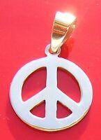 MAGNIFIQUE PENDENTIF EN ARGENT 925/1000 PEACE AND LOVE PENDANT SILVER