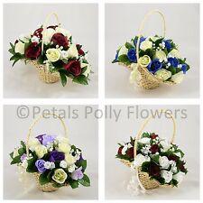 Wedding Flowers by Petals Polly, ARTIFICIAL/SILK BRIDESMAIDS/FLOWER GIRL BASKET