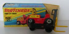 Matchbox - Superfast - MB 15 Fork Lift Truck -OVP - Gelbe Gabel