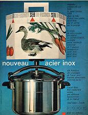 PUBLICITE  1966   SEB  cocotte minute en acier inox