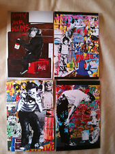 MR. BRAINWASH 4 EVENT CARDS  from LA art show 2011 HARD TO GET,VERY RARE !!