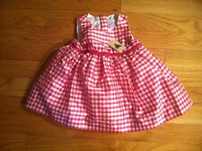 BABY GAP RED AND WHITE SILK CHECKERED DRESS ORG. $49.50 0-3 MONTHS BNWT