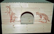 Wurfkiste Katzen mit großem Wunschmotiv auch Portraits Wurfbox Brennarbeit 70 cm