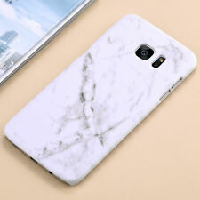 For Samsung Galaxy S7 Edge S8 Hard PC Marble Granite Texture Glossy Case Cover