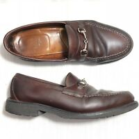Alden Men's Shoes Horse Bit Loafer Dark Brown 10.5 B/D USA Rare Vintage 8503 010