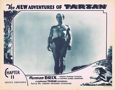 NEW ADVENTURES OF TARZAN 1935 Herman Brix Chapter 11 VINTAGE SERIAL Lobby Card 8