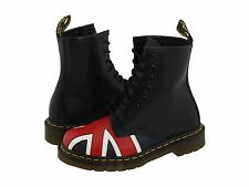 Women's Dr. Martens 1460 Black Smooth Union Jack Leather Lace Up US 7 $140 NEW