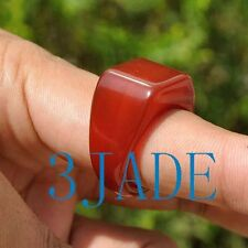 18mm Carnelian / Red Agate Saddle Ring, US size 8