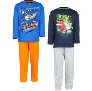 Pyjama Set Schlafanzug Jungen Planes Flugzeuge blau orange Gr 98 104 116 128 #3