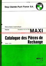 PUCH MAXI N , S , SM : Catalogue des pièces détachées