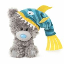 Me to You My Dinky Bear wearing fish hat, sits 23cm