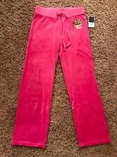 NWT sexy JUICY COUTURE Velour jogging sweatpants women's size: S, Pink $128