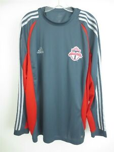 TORONTO FC TFC Adidas Long Sleeve MLS Soccer Training Warm-Up Jersey Sz Large