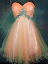 Alyce 3561 short tulle prom dress Size 4 Pageant Evening Formal Cocktail Party