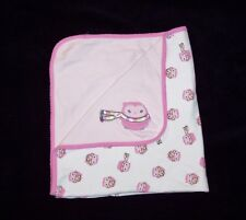 Gymboree Pink Cozy Pals Owl Scarf Baby Blanket 2014 Lovey Cotton