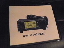 ICOM 706 MK2G      MOUSE MAT   IDEAL GIFT