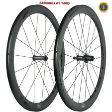SUPERTEAM Carbon Road Bicycle Wheels 23mm Width 50mm Clincher Wheelset R7 Hub