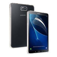 For Samsung Galaxy Tab J - Tough Thin Clear TPU Gel Case Cover & Screen Guard