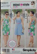 S0911/8123 Mimi G Style Simplicity Dress W/Skirt Variation SizeBB 20W-28W